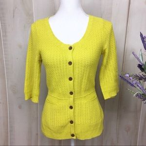Sparrow Yellow Stash Away Knit Cardigan